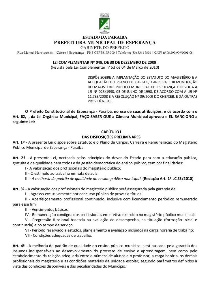 ESTADO DA PARAÍBA                           PREFEITURA MUNICIPAL DE ESPERANÇA                                             ...