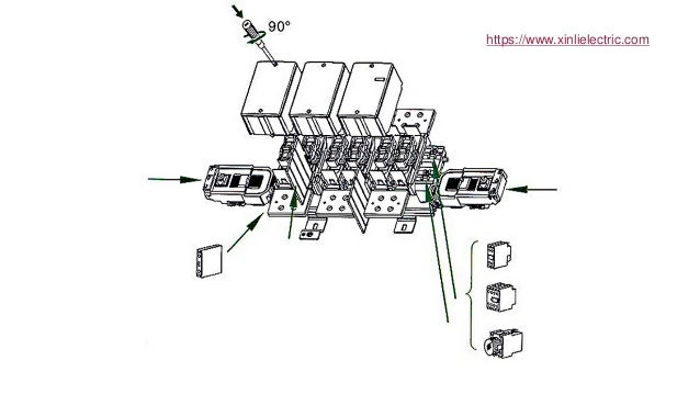 Lc1 f 1300 a 3 phase 380v magnetic ac contactor types