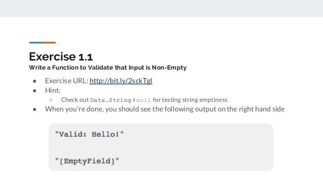 LC2018 - Input Validation in PureScript