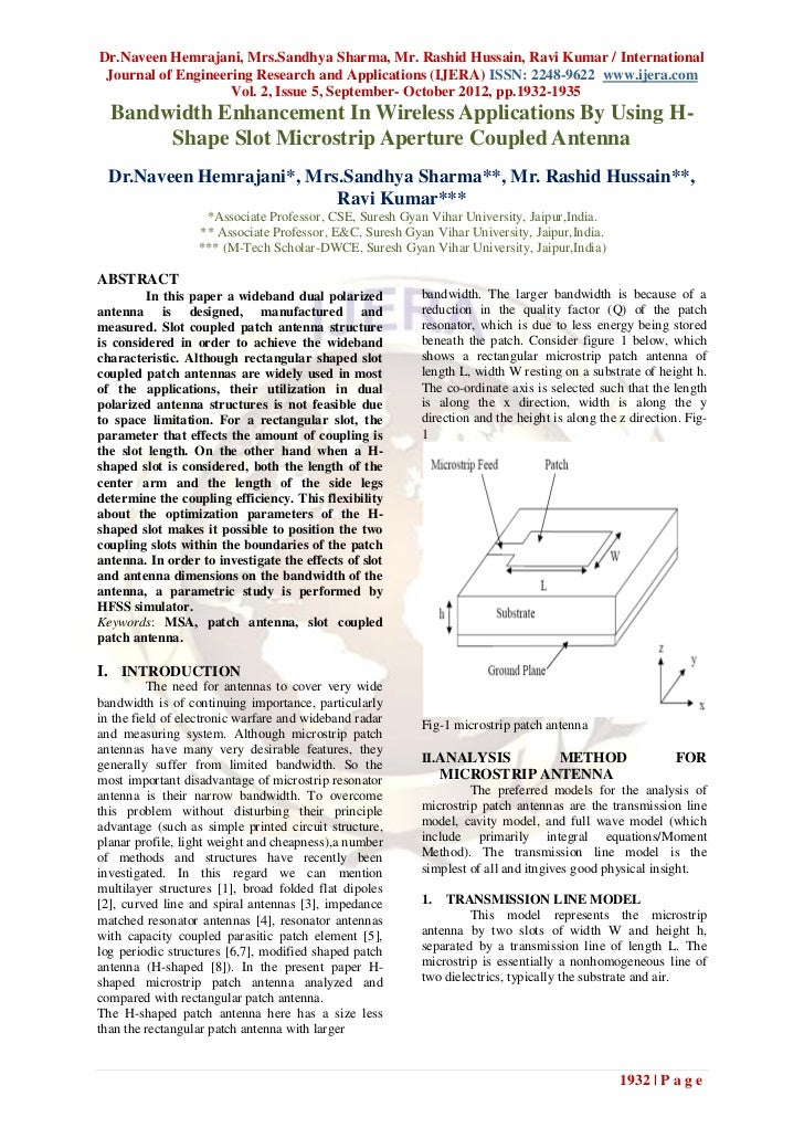 Dr.Naveen Hemrajani, Mrs.Sandhya Sharma, Mr. Rashid Hussain, Ravi Kumar / International Journal of Engineering Research an...