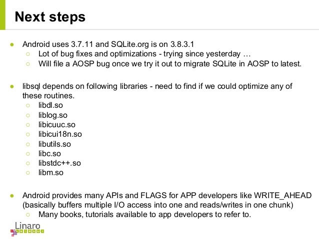 write ahead logging sqlite android app