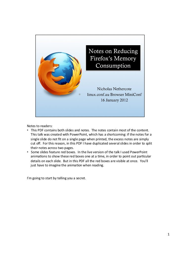 Notes	  to	  readers:	  •  This	  PDF	  contains	  both	  slides	  and	  notes.	  	  The	  notes	  contain	  most	  of	  t...