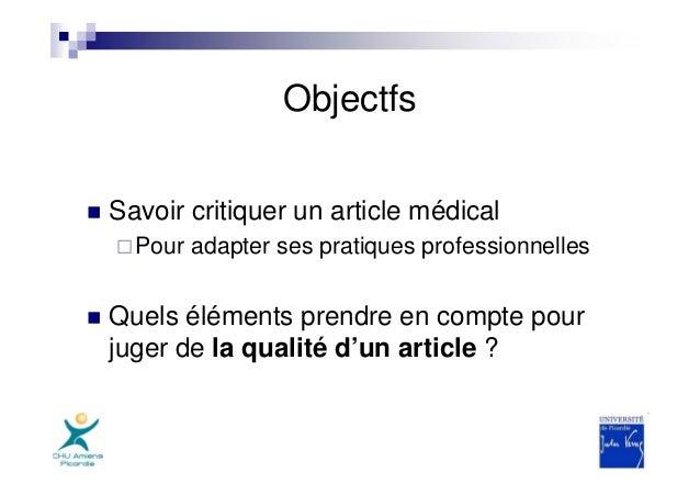 critique article scientifique exemple .