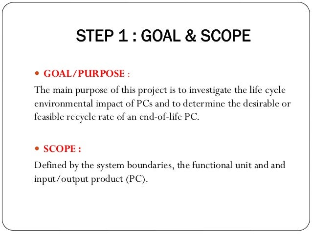 Life Cycle Assessment on Personal Computer