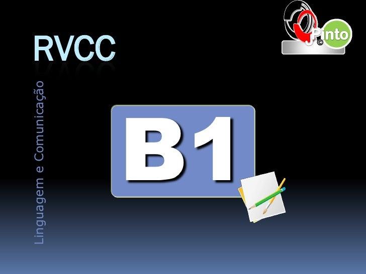 Linguagem e Comunicação                          RVCC      B1