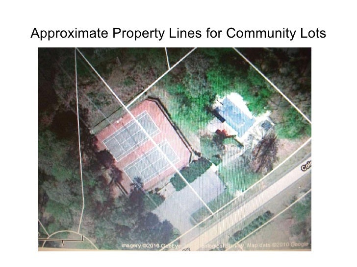 Approximate Property Lines for Community Lots