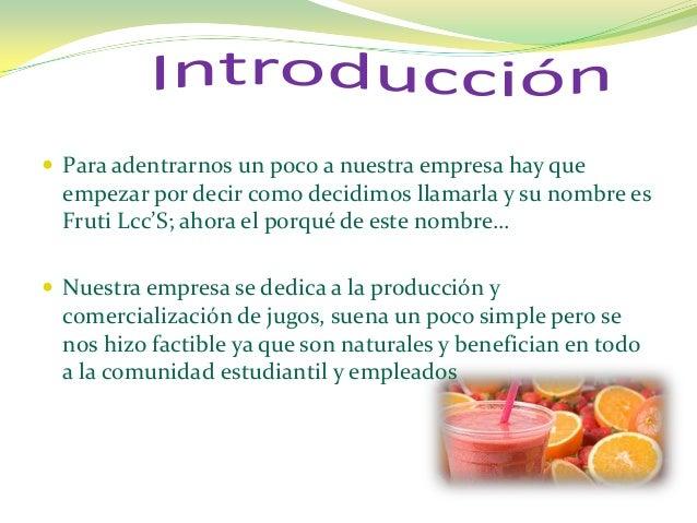 Lcc's frutis empresa Slide 2