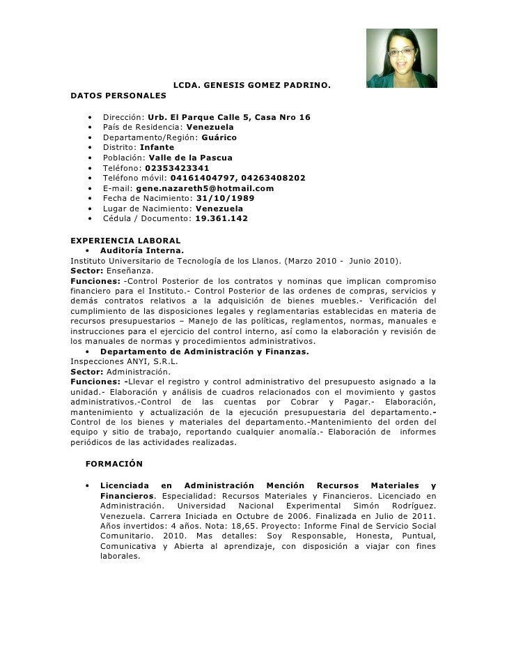 Lcda. curriculum
