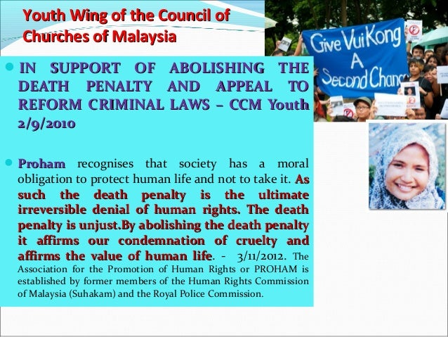 Death penalty ultimate denial of human rights