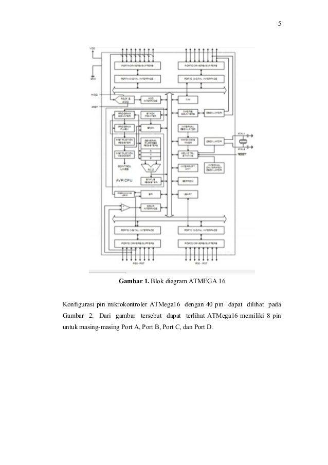 menampilkan karakter pada lcd dengan mikrokontroler atmega16
