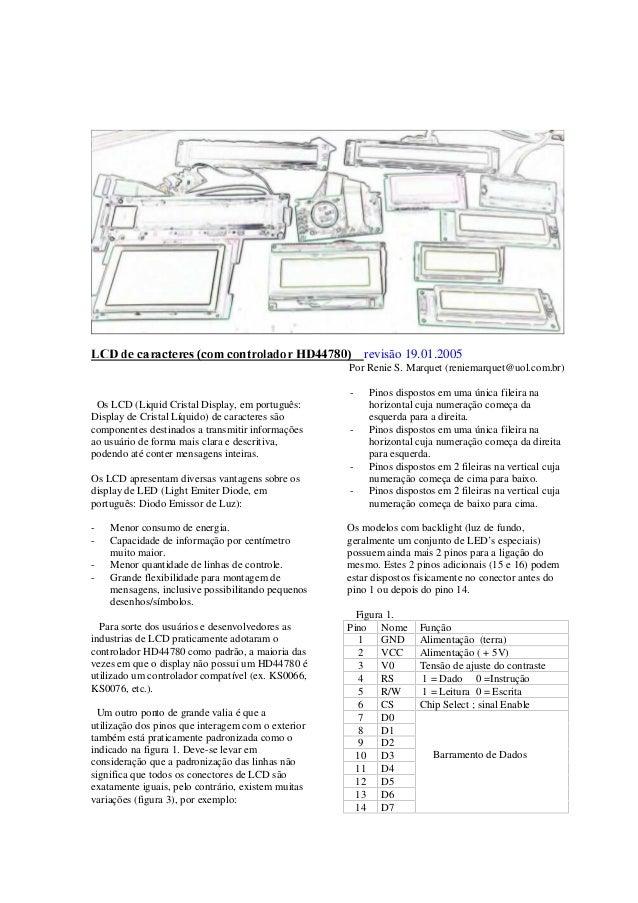 G89ÃqrÃph…hp‡r…r†Ãp'€Ãp'‡…'yhq'…ÃC9##'ÃÃÃÃrevisão 19.01.2005 Por Renie S. Marquet (reniemarquet@uol.com.br) Os LCD (Liqui...