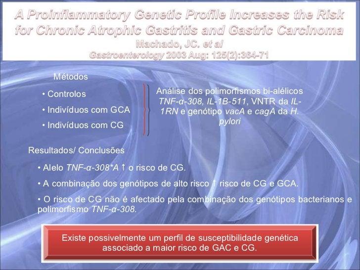 Métodos <ul><li>Controlos </li></ul><ul><li>Indivíduos com GCA </li></ul><ul><li>Indivíduos com CG </li></ul>Análise dos p...