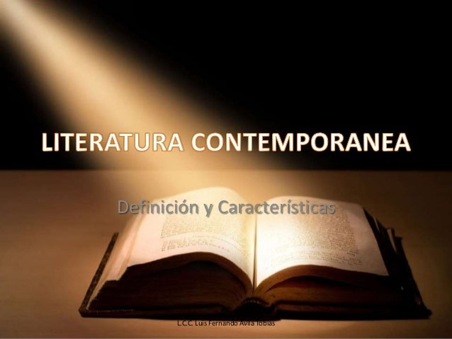 Conceptos b sicos de literatura contempor nea for Epoca contemporanea definicion