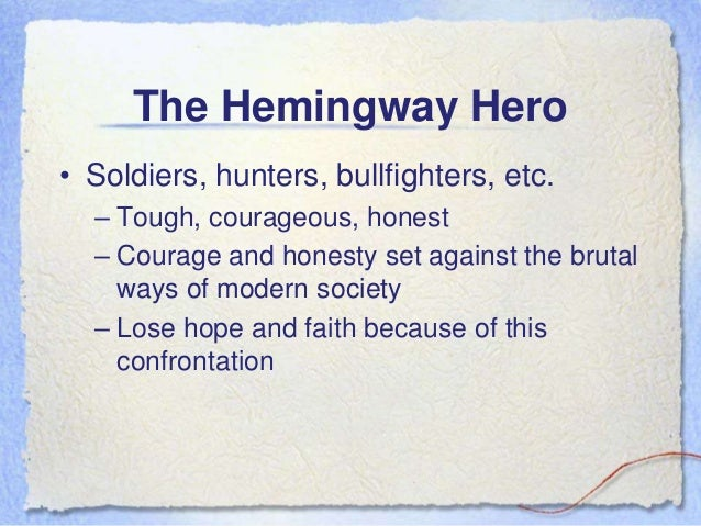 An analysis of the code hero in the works of ernest hemingway