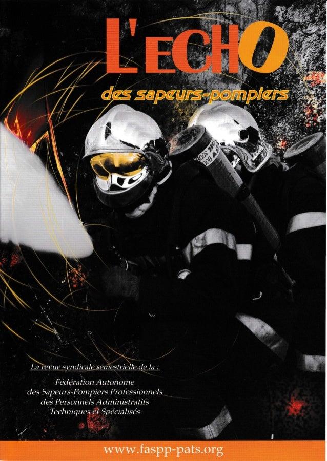 L'écho des sapeurs pompiers 2014