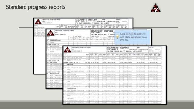 Standard progress reports