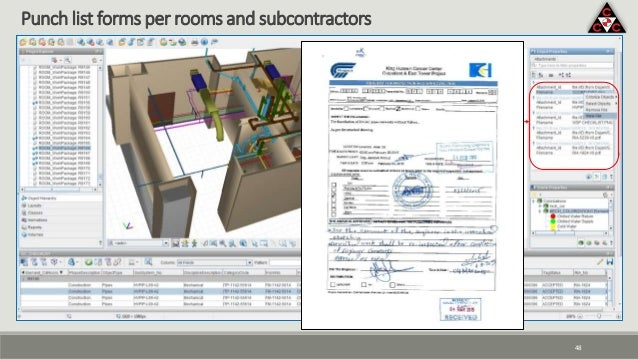 48 Punch list forms per rooms and subcontractors