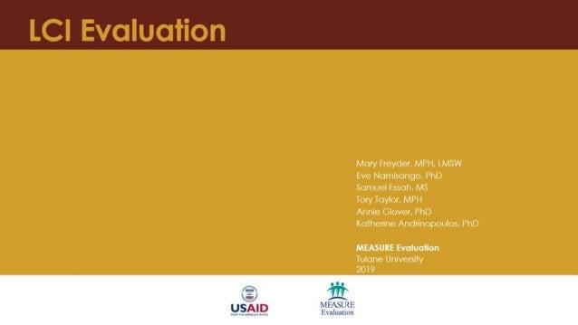 Local Capacity Initiative (LCI) Evaluation