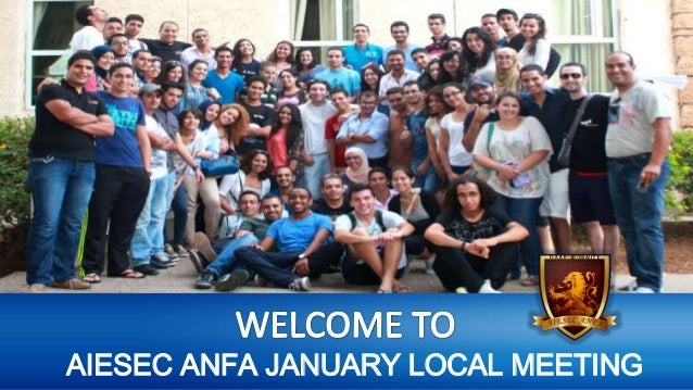 AIESEC ANFA JANUARY LOCAL MEETING
