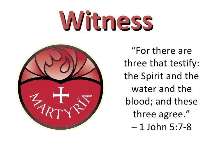 Testimony to the Son