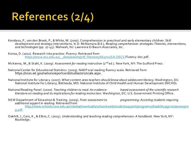 Fluency Comprehension Professional Development Workshop
