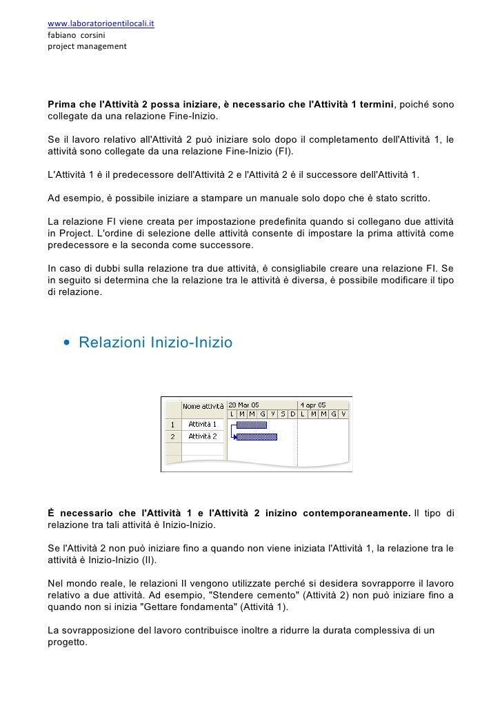 www.laboratorioentilocali.it fabiano corsini project management     Prima che l'Attività 2 possa iniziare, è necessario ch...