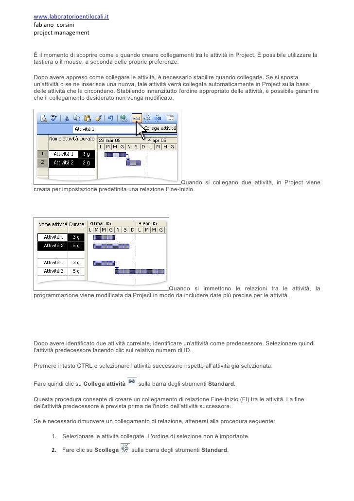 www.laboratorioentilocali.it fabiano corsini project management   È il momento di scoprire come e quando creare collegamen...