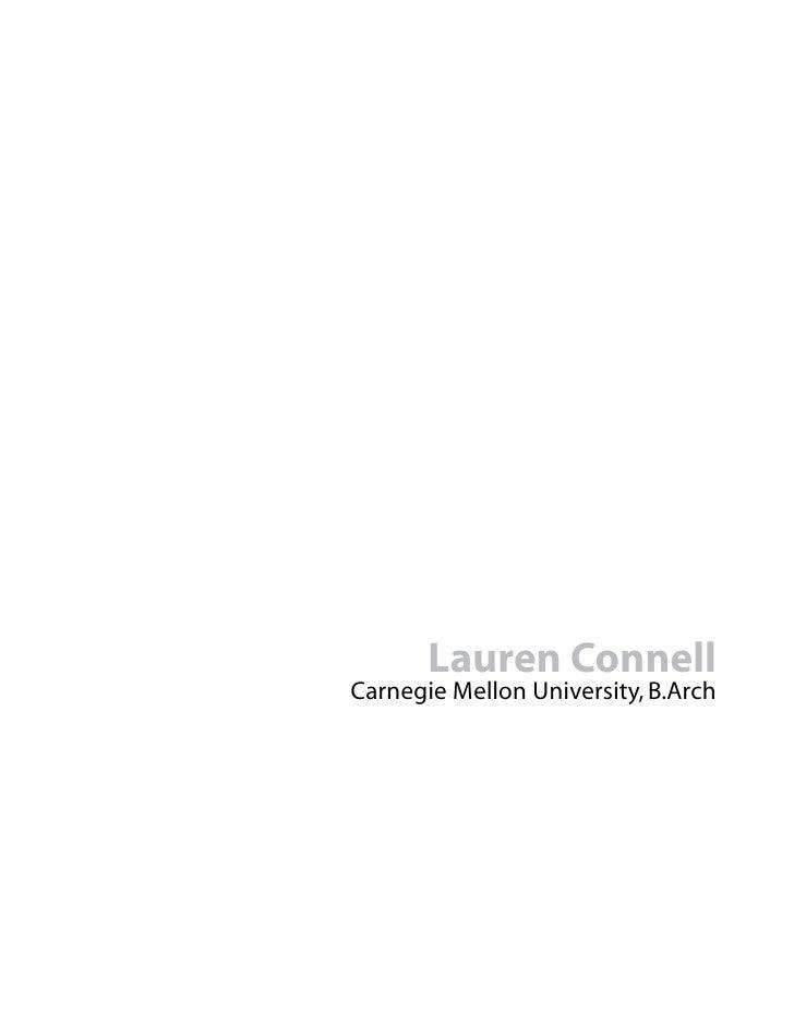 Lauren Connell Carnegie Mellon University, B.Arch