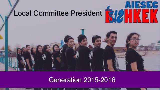 Local Committee President Generation 2015-2016
