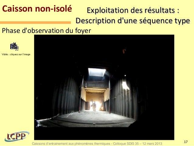 Caisson non-isolé                                          Exploitation des résultats :                                   ...