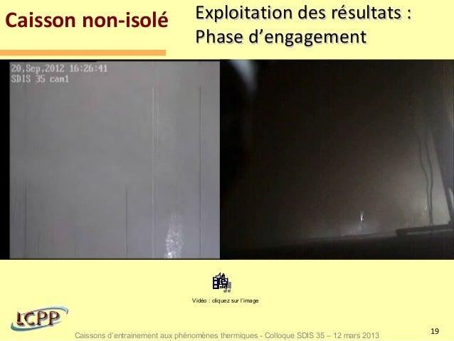 Caisson non-isolé                       Exploitation des résultats :                                        Phase d'engage...
