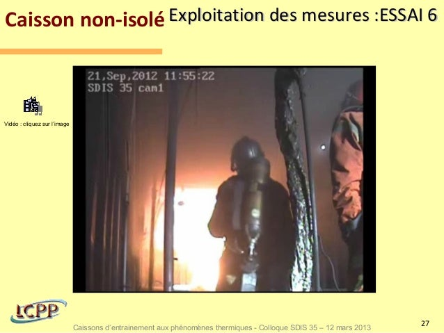 Caisson non-isolé Exploitation des mesures :ESSAI 6Vidéo : cliquez sur l'image                                            ...