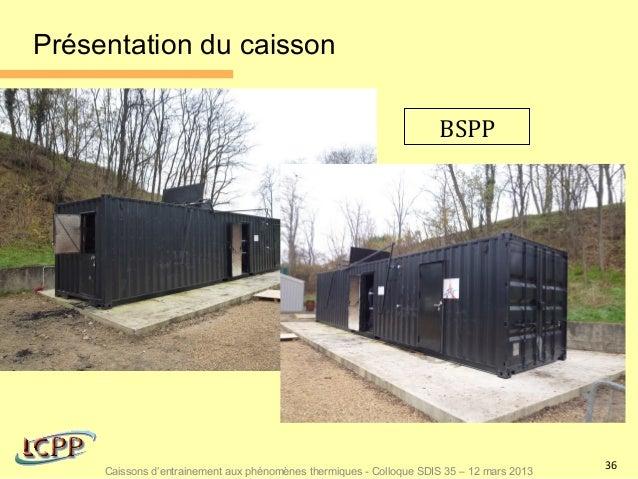 Présentation du caisson                                                                     BSPP                          ...