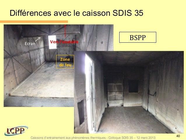 Différences avec le caisson SDIS 35                  Vers l'exutoire                                                      ...