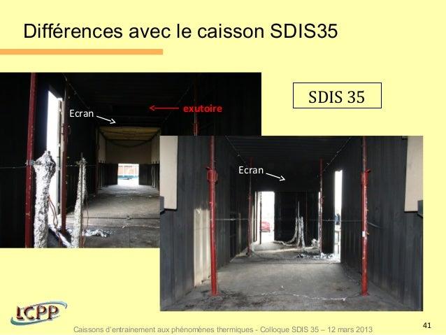 Différences avec le caisson SDIS35                                                                      SDIS 35    Ecran  ...