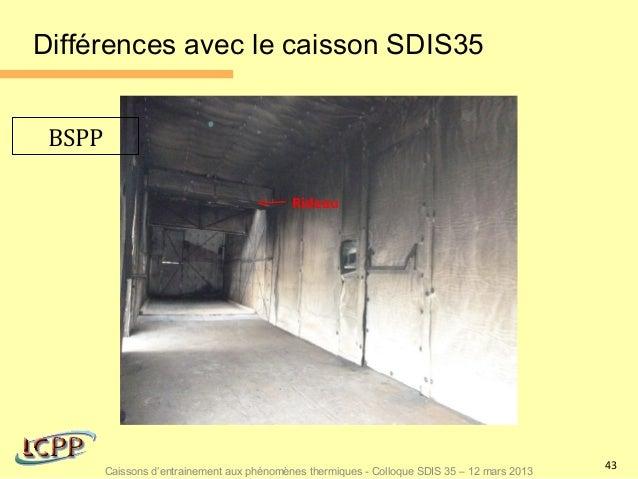 Différences avec le caisson SDIS35 BSPP                                            Rideau                                 ...
