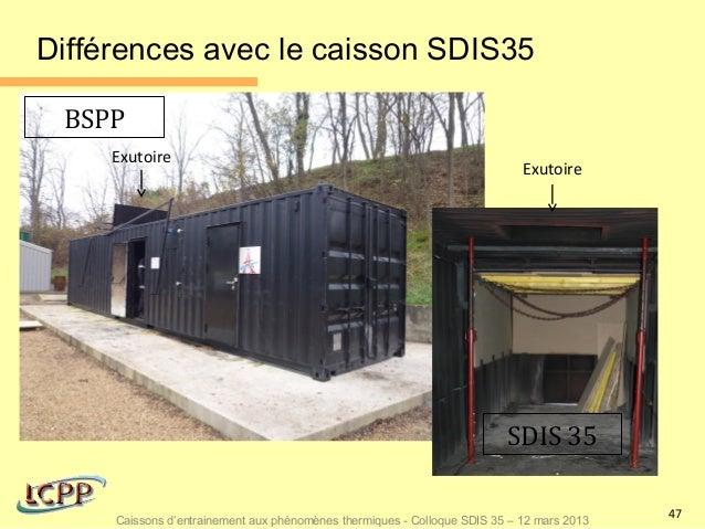 Différences avec le caisson SDIS35 BSPP     Exutoire                                                                      ...