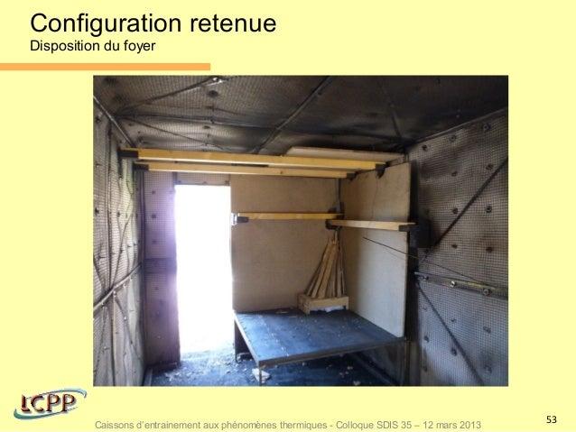 Configuration retenueDisposition du foyer                                                                                 ...