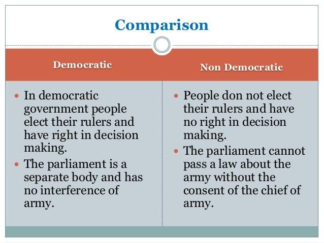 authoritarianism v . democracy essay government