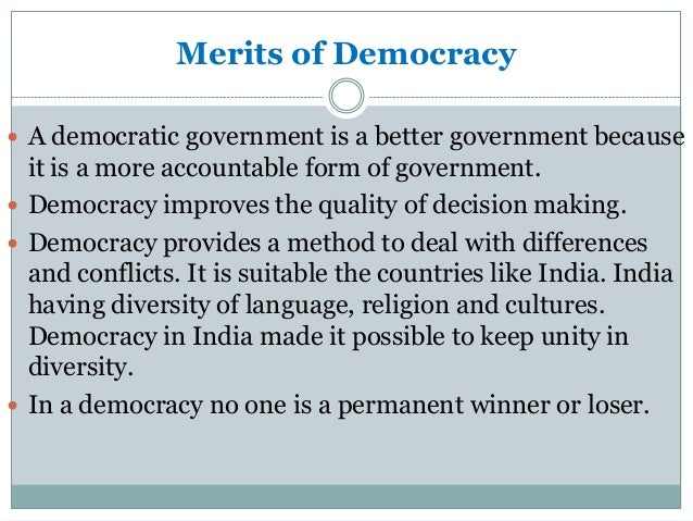 essay on india and democracy Is indian democracy really an example so overall india is a good flawed democracy with corrupt politicians what india need is to improve all institutions.