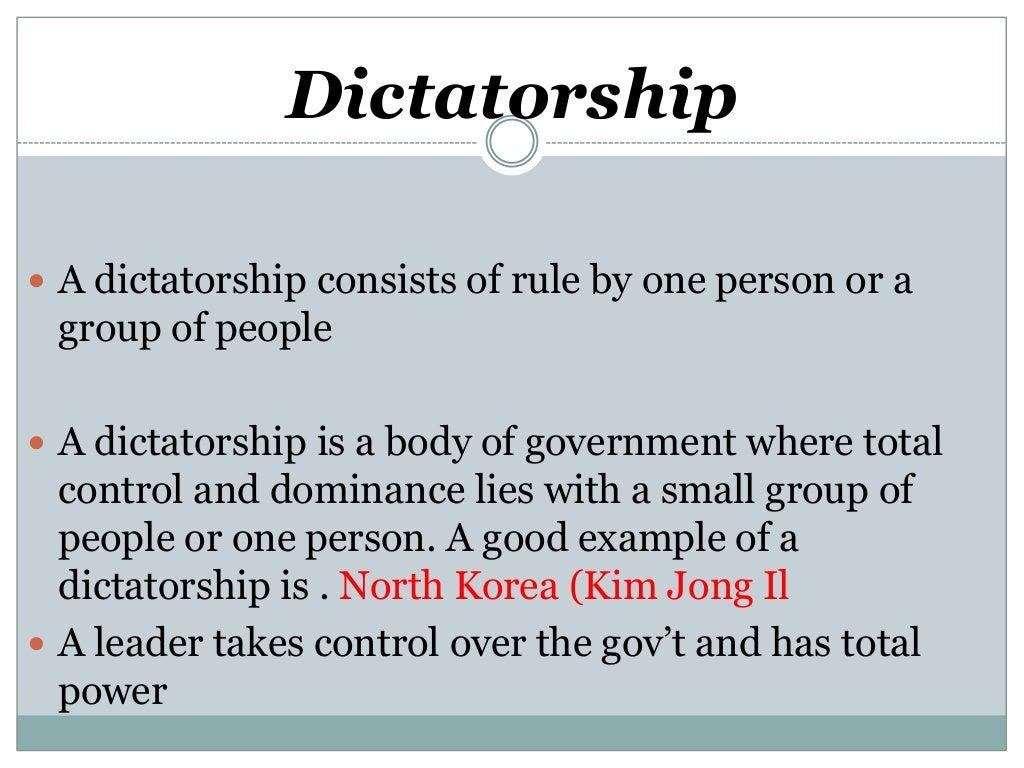 essay democracy vs dictatorship