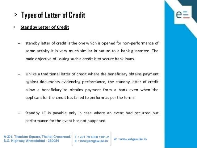letter of credit lc presentation