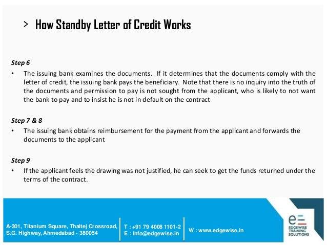 Letter Of Credit (Lc) Presentation