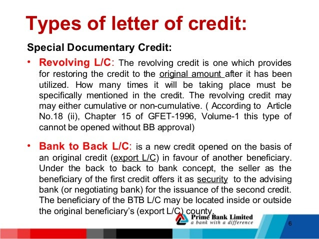 letter of credit and its operation Trade letter of credit trade (or documentary) letters of credit are issued to facilitate commercial trade trade lc's provide the seller of a good or service an.