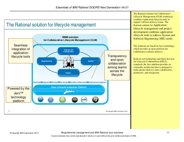11.  sc 1 st  SlideShare & Requirements management and IBM Rational Jazz solutions pezcame.com