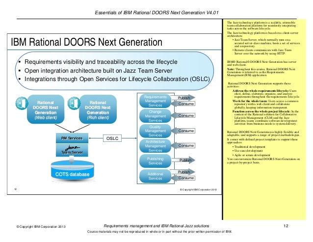12. Essentials of IBM Rational DOORS ...
