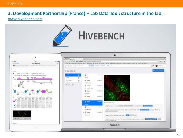3. Development Partnership (France) – Lab Data Tool: structure in the lab www.hivebench.com 11