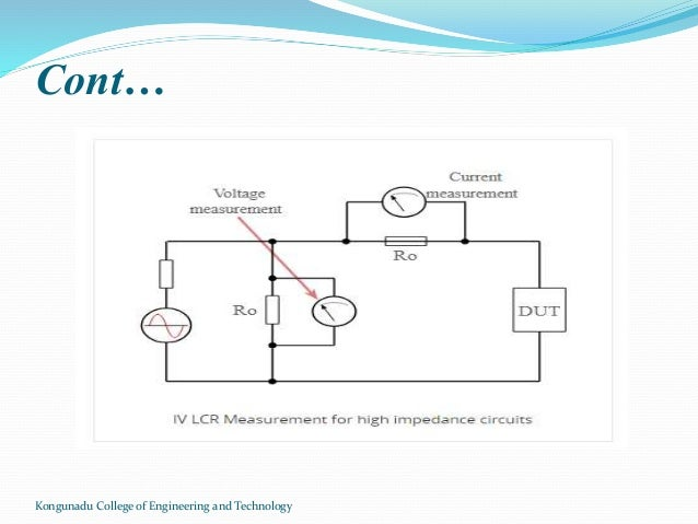 lcr meterkongunadu college of engineering and technology; 8 lcr bridge measurement guidelines