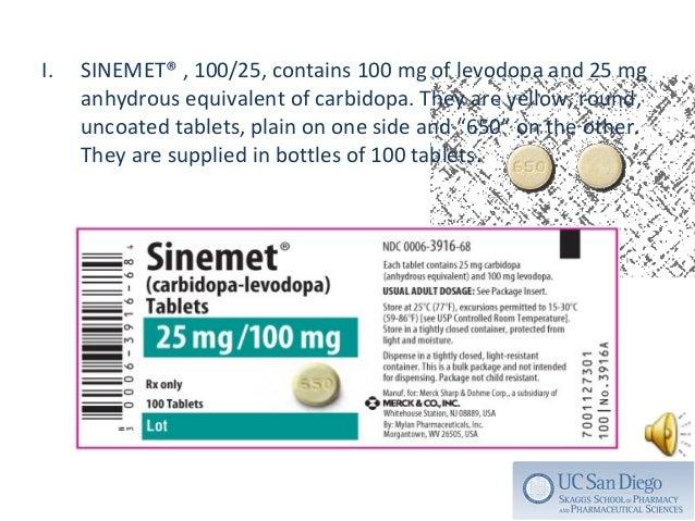 Sinemet Cr Dosages