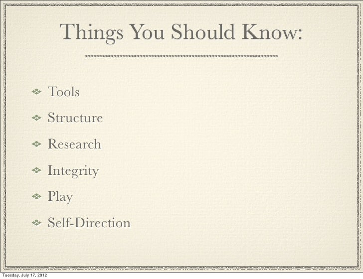 things we should learn in school